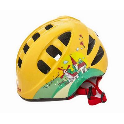 Шлем детский М(52-56) VSH 9 жёлтый-город
