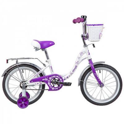 Велосипед NOVATRACK 16'',BUTTERFLY, белый-фиолетовый