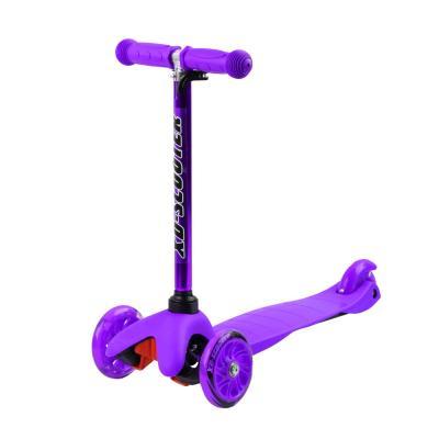 Самокат City-Ride S4-04, колеса PU 110/76, фиолетовый 1/10
