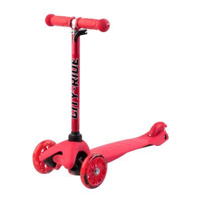 Самокат City-Ride S4-01, колеса PVC 110/76, красный 1/10