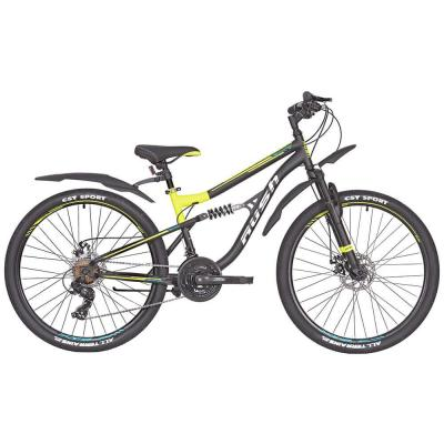 Велосипед RUSH HOUR FS 815 Disc ST 16'' 21ск желтый