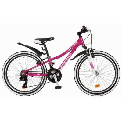 Велосипед NOVATRACK 24'', KATRINA,12''V алюм, 21ск. фиолет