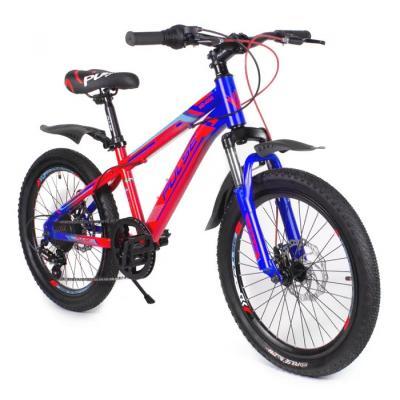 Велосипед PULSE MD1000 серый/оранжевый/синий