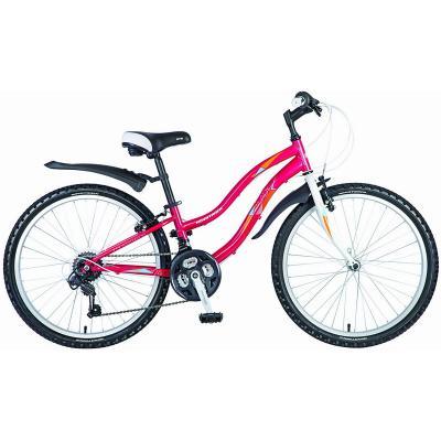 Велосипед NOVATRACK 24'', LADY, 12''V сталь, 18ск. красный
