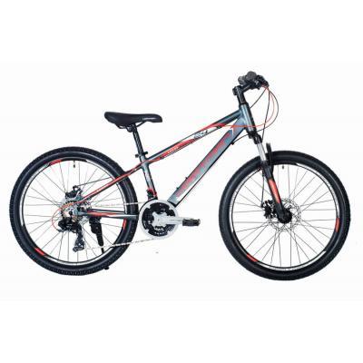 Велосипед HARTMAN Lucky PRO Disk 12,5 18ск,алюм, графит/красный(2021)