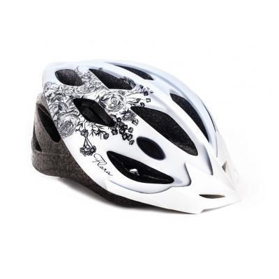Шлем подрост. L(58-61) VSH 13 Flora белый с черным Vinca sport
