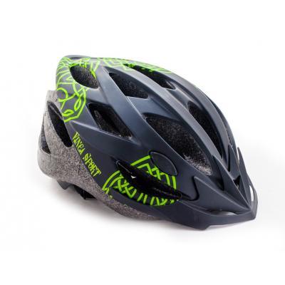 Шлем взросл. M(56-59) 19 вент.отв.VSH 23 celt черный с зеленым