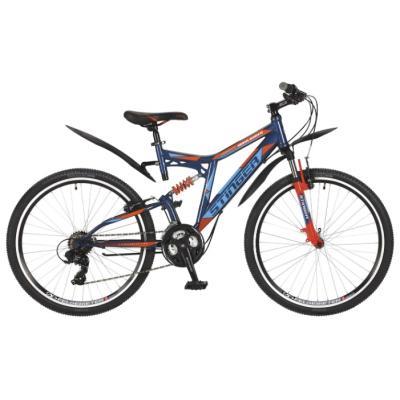 Велосипед Stinger Highlander 200V сталь, 2-x подв.18, синий
