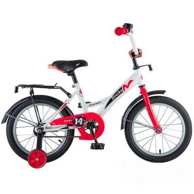 Велосипед NOVATRACK 14'',STRIKE, белый-красный