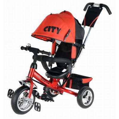 Велосипед 3-х кол JD7RS, ПВХ колеса 10 и 8, красный