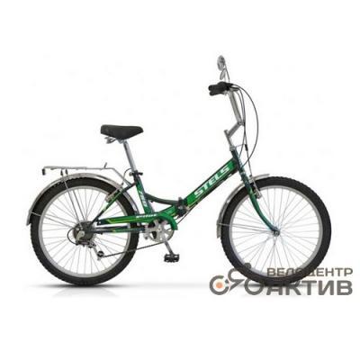 Велосипед Stels Pilot-750 16 арт Z010 черный/зеленый