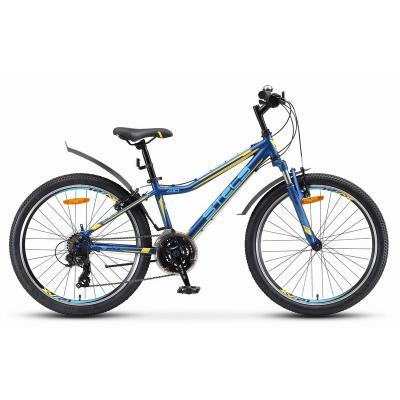 Велосипед Stels Navigator-410 V13 темно-синий/желтый арт.V010 21-ск