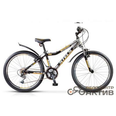 Велосипед Stels Navigator-420 V 13 хром/черный/желтый арт15