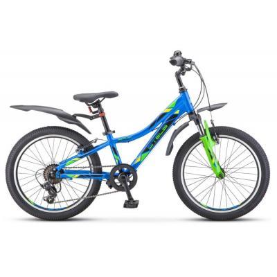 Велосипед Stels Pilot-260 Gent 10 синий/зеленый арт.V010 (2021)