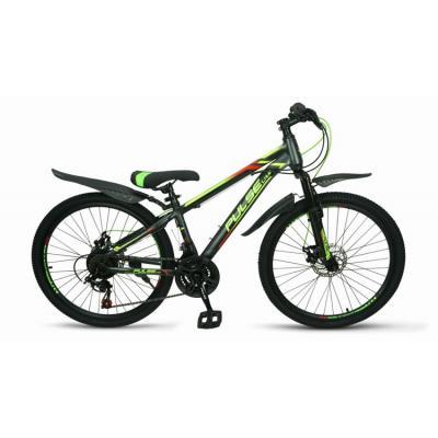 Велосипед PULSE MD2000 серый/зеленый/желтый