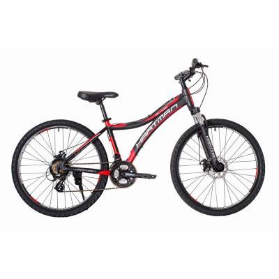 Велосипед HARTMAN Blaze Pro Disk 15 21ск. алюм, черный/коасный(2021)