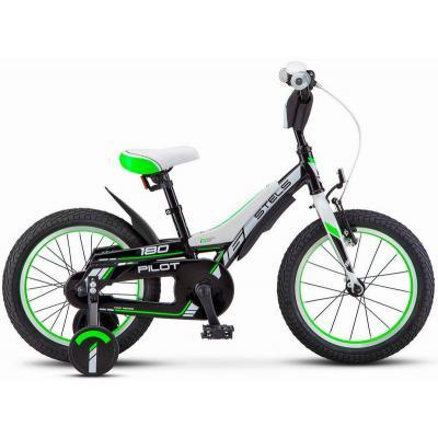 Велосипед STELS Pilot 180 10 черный/зеленый арт.V010