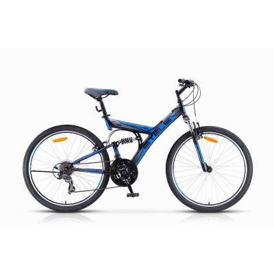 Велосипед Stels Focus V 21ск 18 черный/серый/синий арт 16
