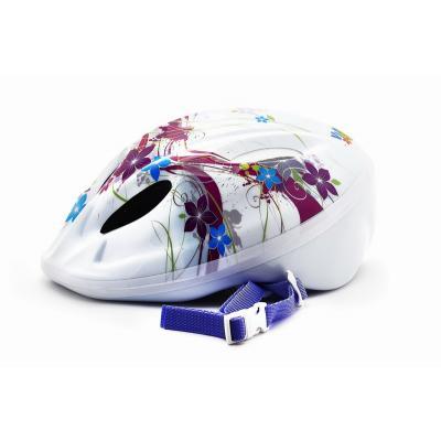 Шлем детский S(48-52) VSH 5 белый-цветы