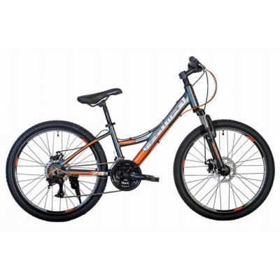 Велосипед HARTMAN Rowdy PRO Disk 13 18ск.алюм, темно-серый оранжевый мат(2020)