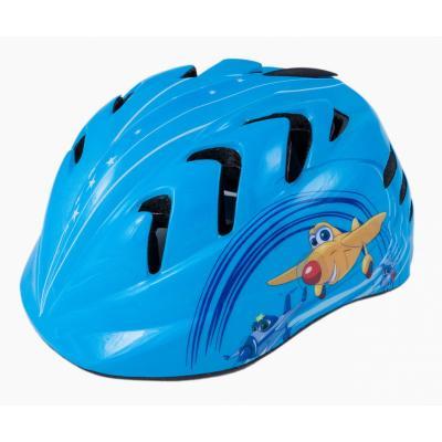 Шлем детский М(52-56) VSH 7 синий-вертолетики