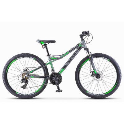 Велосипед Stels Navigator-610 МD 16 серый/зеленый арт.V040 (510)
