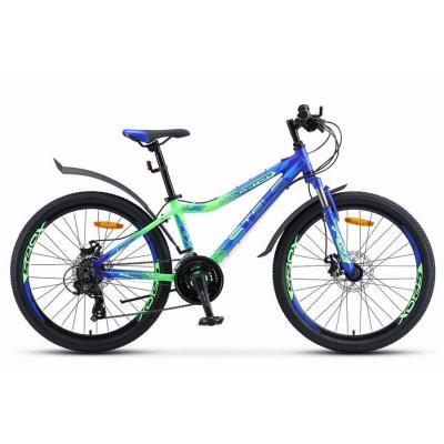 Велосипед Stels Navigator-450 MD 13'' синий/неоновый_зеленый арт.V030