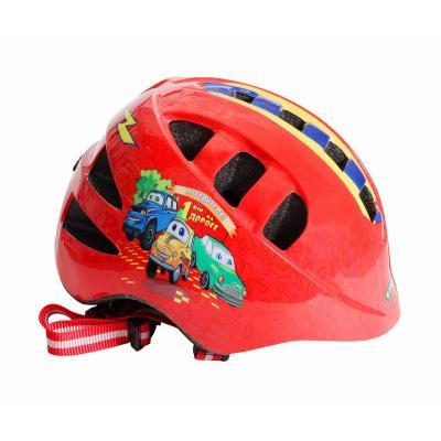 Шлем детский М(52-56) VSH 8 красный-машинки