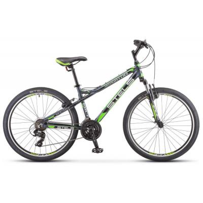 Велосипед Stels Navigator-610 V 16 черный/зеленый арт.V030