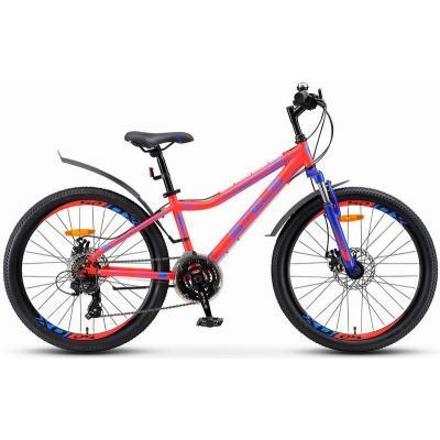 Велосипед Stels Navigator-410 MD13 неоновый-красный арт.V010 21-ск.