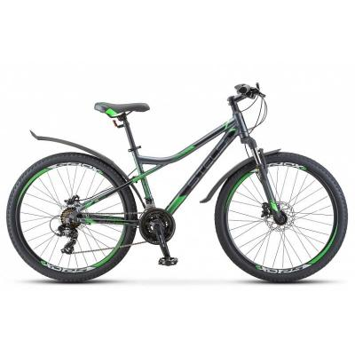 Велосипед Stels Navigator-610 D 16 антрацитовый/зеленый арт.V010