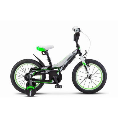 Велосипед STELS Pilot-180 9 арт.V010 черный/зеленый