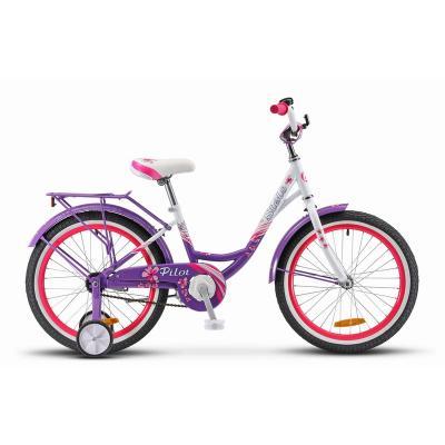 Велосипед Stels Pilot-210 Lady 12 пурпурный/белый арт.V010
