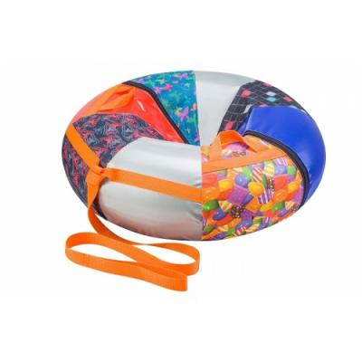 Санки надувные D80см сн020.080 ПВХ+ткань с рисунком+камера
