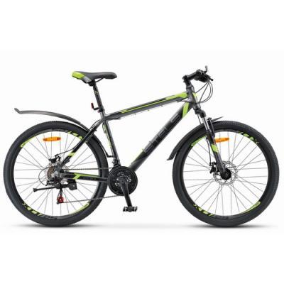Велосипед Stels Navigator-600 МD 18 антрацитовый/лайм арт.V020