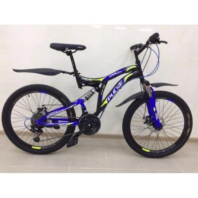 Велосипед PULSE MD2470 черный/синий/оранжевый
